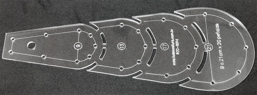 Régua, Gabarito Dresden Plate 09 a 21Cm x 20 P&eac...