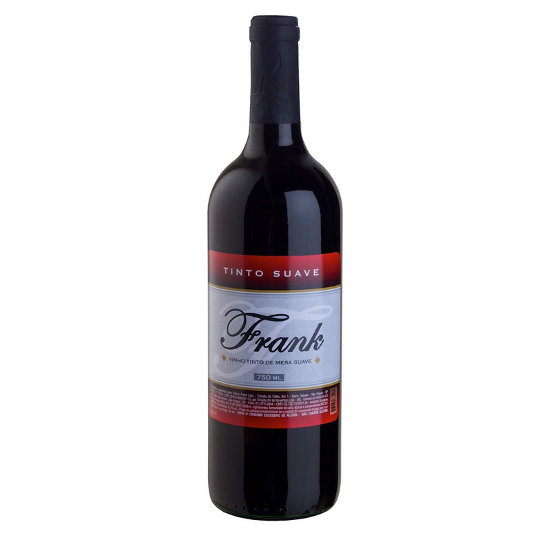 Vinho Tinto Suave Izabel/Bordô 750ml - Frank