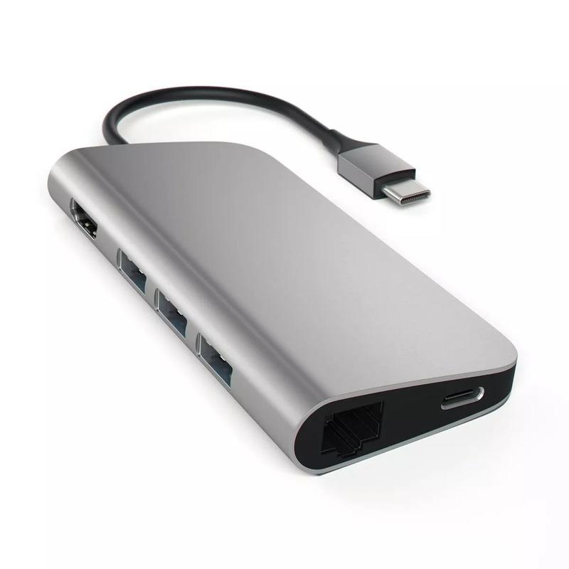 Satechi Adaptador Multiporta HDMI 4K Ethernet Space Gray- ST-TCMAM 6136