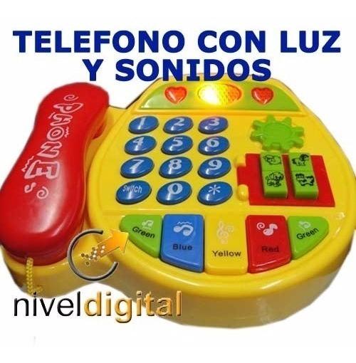Telefono Didactico Ingles Musical Luz Sonido Numeros Colores