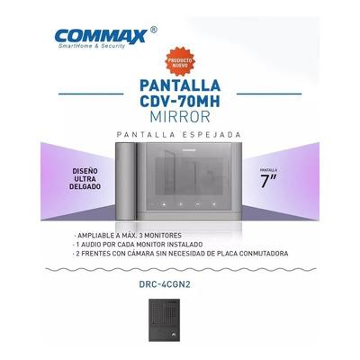Kit Portero Electrico Visor Commax Cdv 70mh Espejado Led
