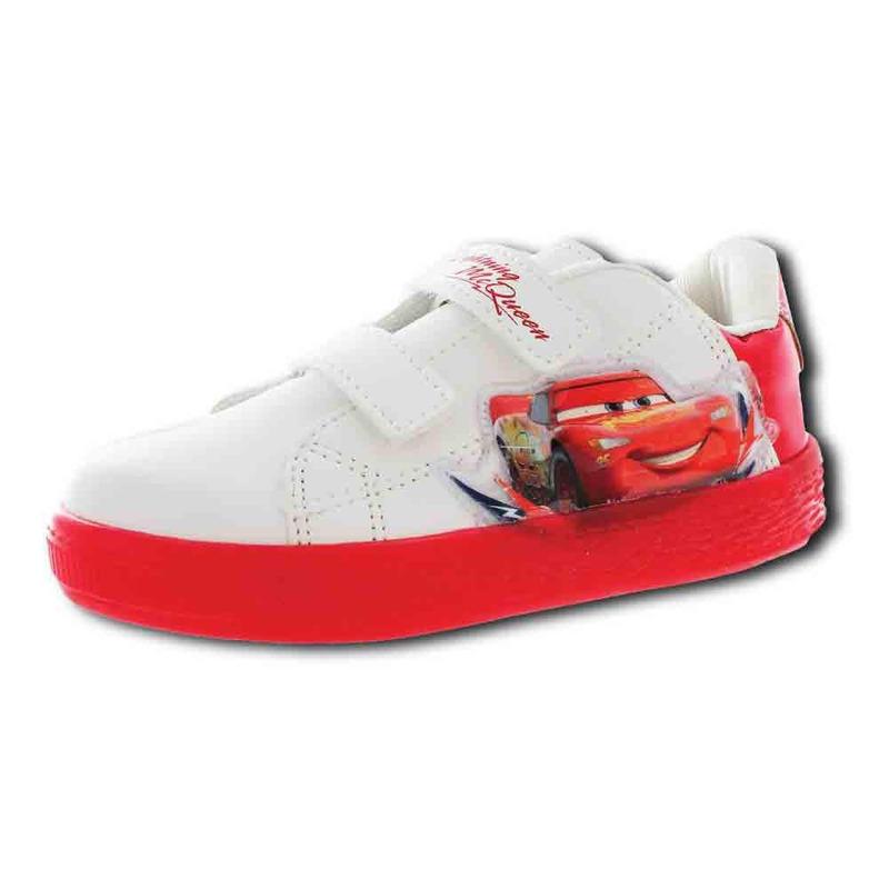 Sneakers Blanco Con Rojo De Cars T06802