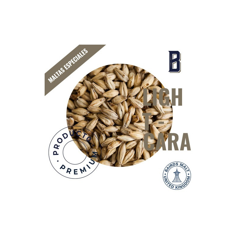 Malta LIGHT CARA  (Bairds Malt) kit cerveza artesanal, 1kg.
