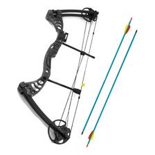 Arco Compuesto 55 Lbs Mk Flechas Mira Optica Rest Caza Pesca