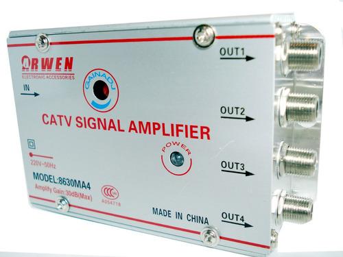 Amplificador de se al de cable tv repartidor 4 salidas - Amplificador senal tv ...