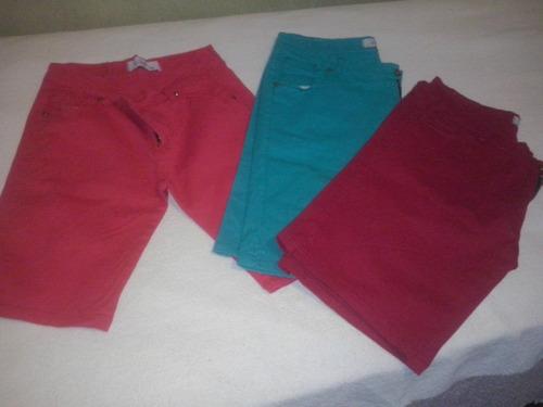 Bermudas De Jean Elastizado De Color T 44 Al 54 $ 410