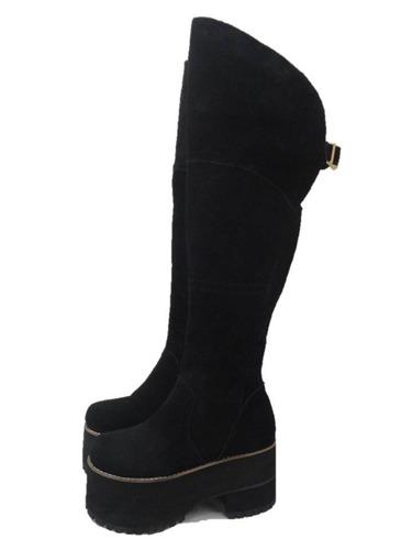 Botas Bucaneras Mujer Zapatos Borcegos Plataformas Paradisea