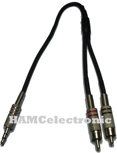 cable adaptador audio plug 3 5 stereo a 2 rca macho