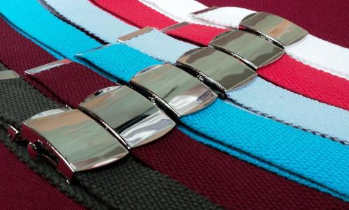 Cinturón De Algodón Con Hebilla Marinera - Todos Los Tamaños