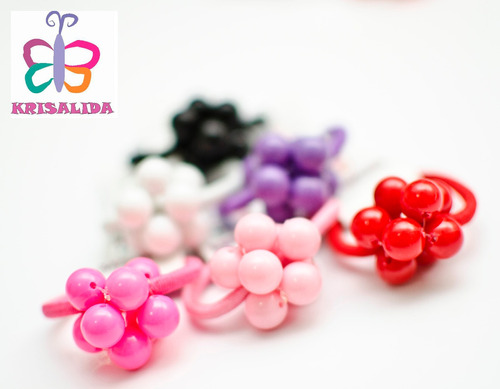 Colitas De Pelo Con Bolas De Colores