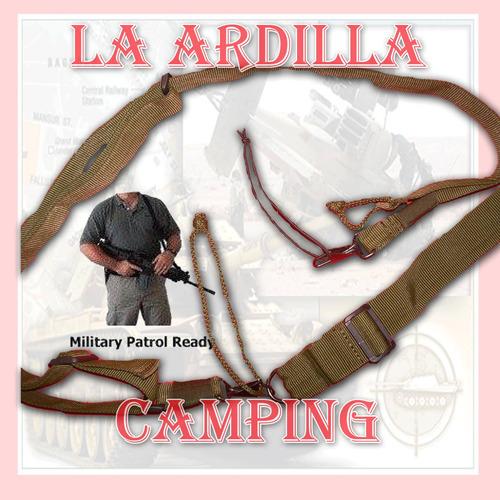 Correa Tactica Militar 3 Puntos Universal Ganchos Metalicos
