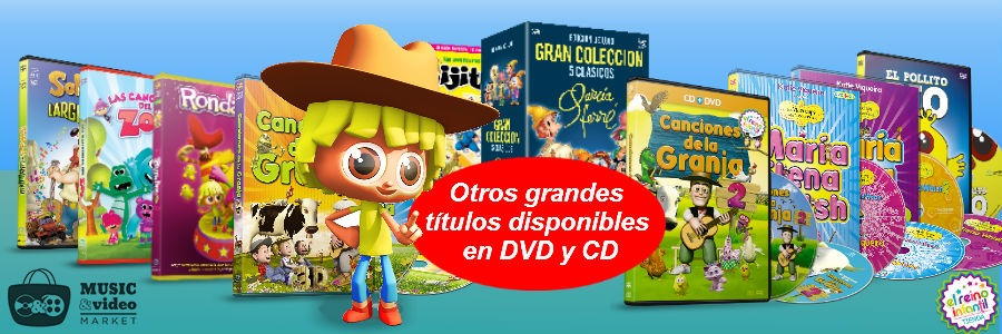 Otros titulos disponibles en DVD, CD y Bluray