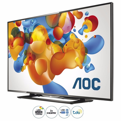 Led Tv Aoc Le50d1452 Full Hd Usb Hdmi Sinto Digital Tda