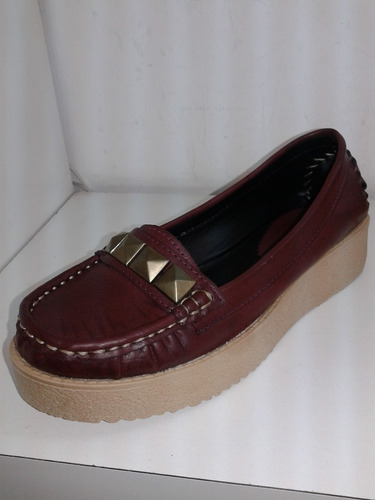 Mocasin Clasico Tachas Zapato Mujer Dorotea
