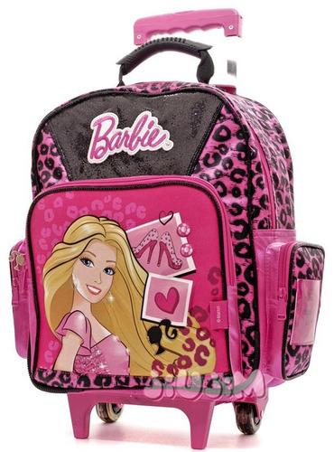 Mochila Carro Grande Escolar Barbie Modelo 3d 2015 Jiujim