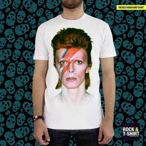 Remera David Bowie Rayo - Hay Más Modelos