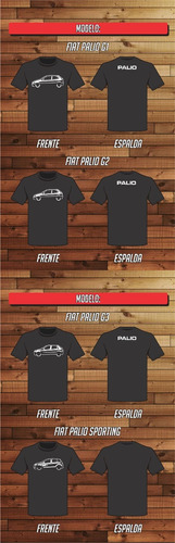 Remera Fiat Palio Side Estampada 100% Algodon Reforzada