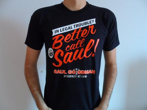 Remeras Estampadas Breaking Bad Better Caul Saul Heisenberg