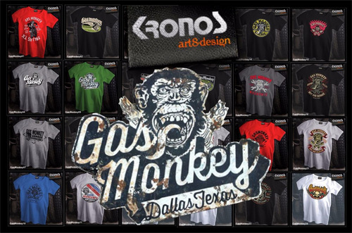 Remeras Gas Monkey Garage Autos Motos Custom Personalizado