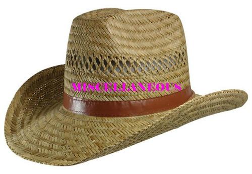 Sombrero Cowboy En Paja