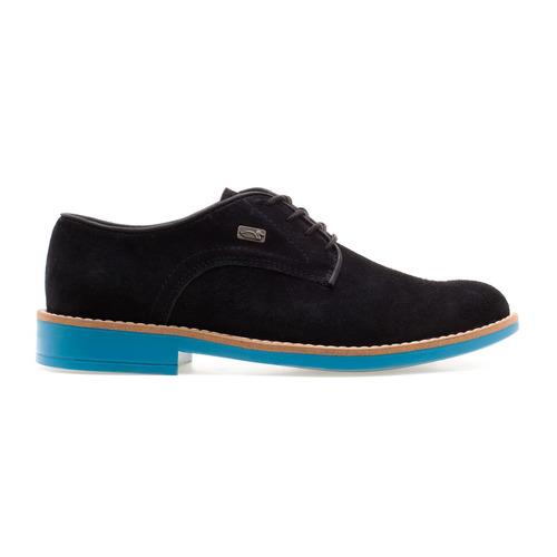 Zapato Gamuzado C/ Cordones Negro Pato Pampa