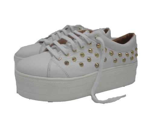 0d2ec606 Zapatos Mujer Plataformas Zapatillas Panchas Cuero Paradisea ...