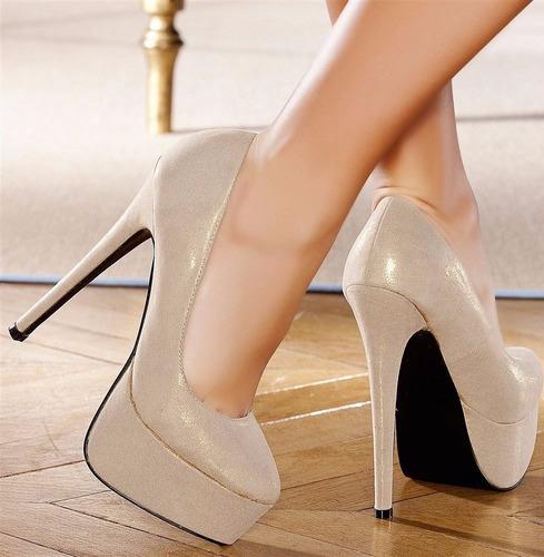 super popular 16d20 42ea4 Zapatos Stilettos Fiesta Plataforma Brillos Importados ...